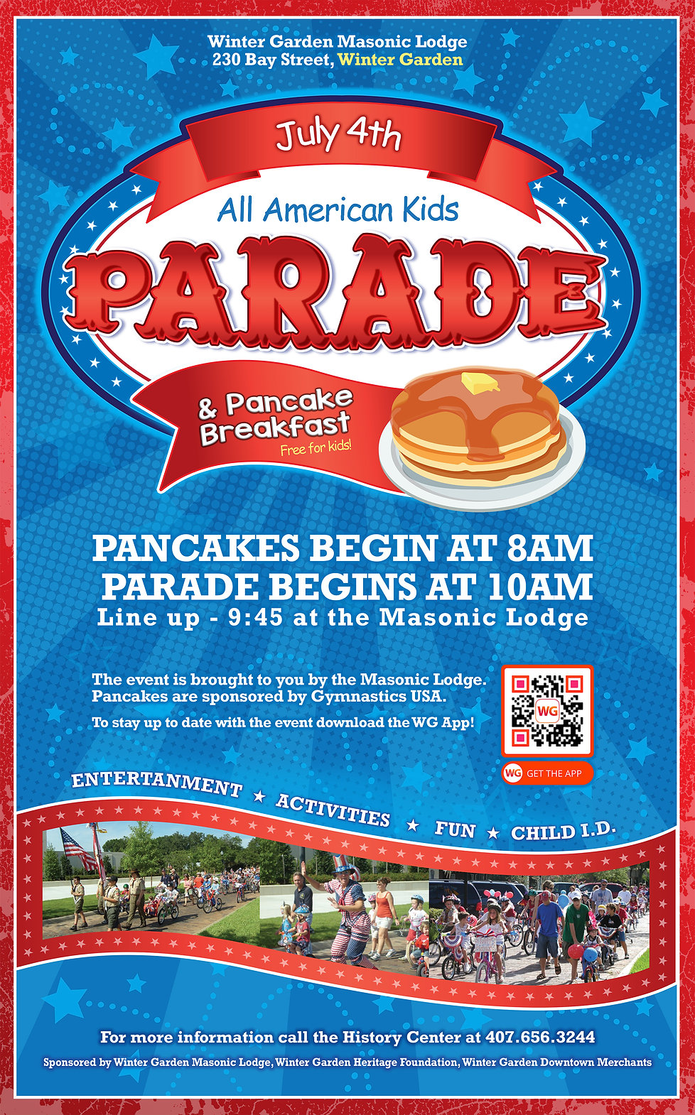 The Annual Winter Garden Independence Day Pancake Breakfast and Parade on the 4th of July