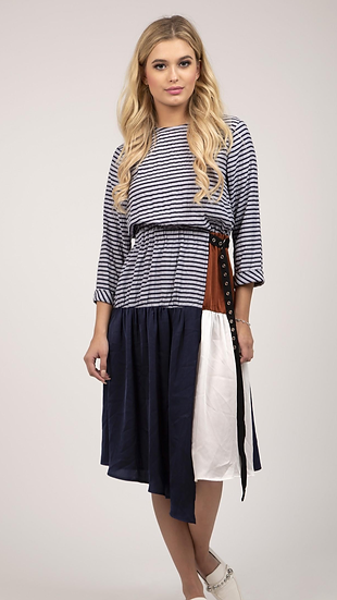 Patchwork Casual Dress