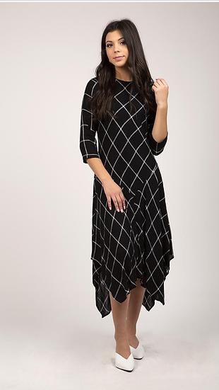 Plaid Asym Dress