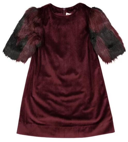 Zoe Fur Dress