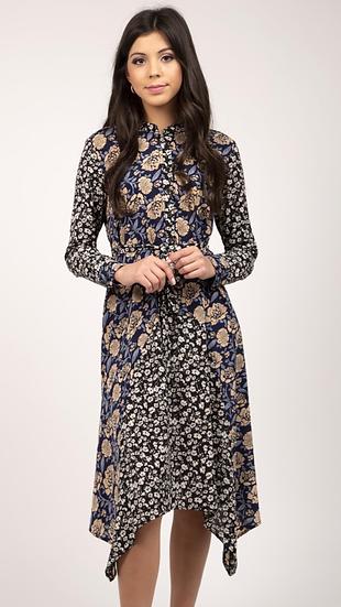 Floral Asym Dress