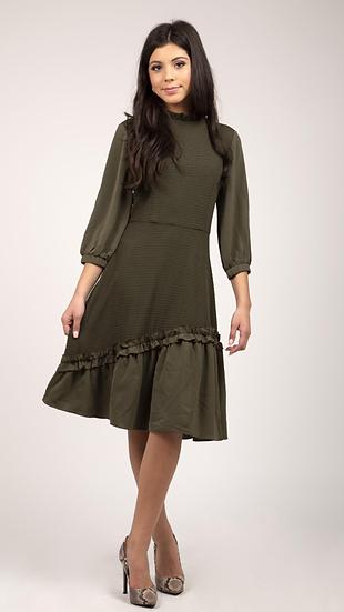 Green Frill Bottom Dress