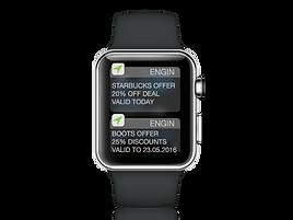 wearable tech smart watch showing push notification