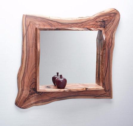 The Live Edge Female Pistachio Mirror with Ledge