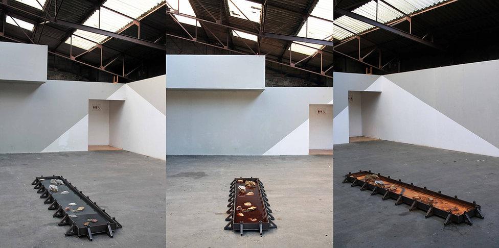 mathilde leveau - art in situ - installation - le mans - hangar crealab - crue