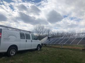Midwest Solar Power ground mount instal