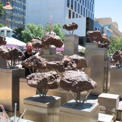 Open air Gibeon meteorite display (Namibia)