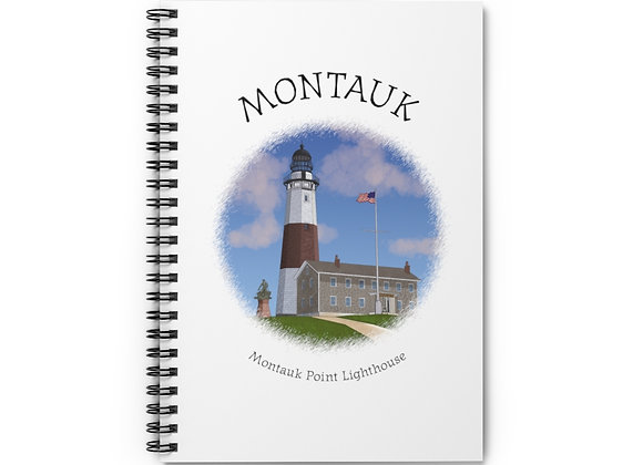 Montauk Point Lighthouse Spiral Notebook