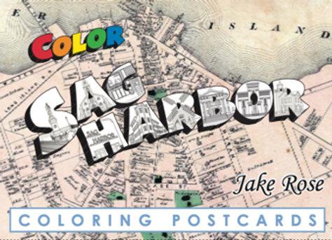 Sag Harbor Coloring Postcard