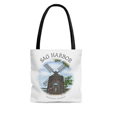Sag Harbor Windmill Tote Bag
