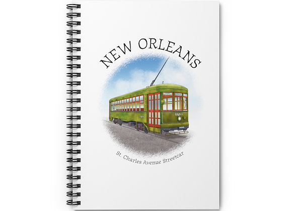 St. Charles Avenue Streetcar Spiral Notebook