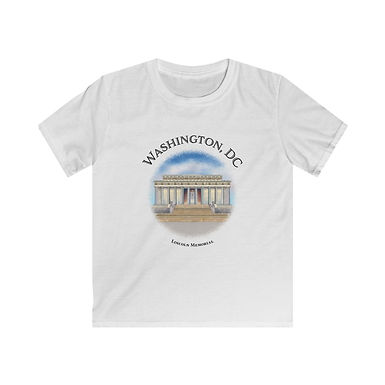 Lincoln  Memorial Kids Softstyle Tee
