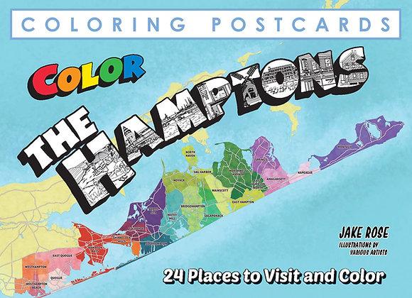 Hamptons Coloring Postcard