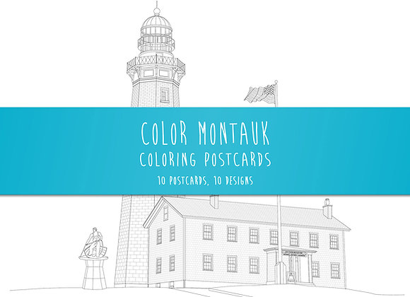 Montauk Coloring Postcard - Set of 10