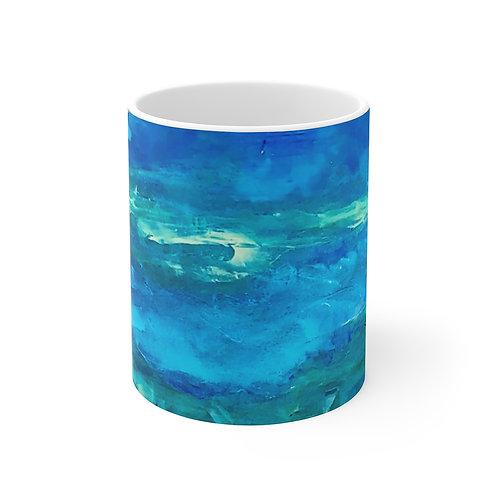 """Mug 11oz - """"Sea Swells"""" by Helen Weinstein"""