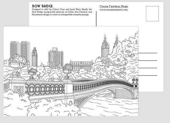 Central Park Coloring Postcards - Set of 10