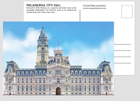 Philadelphia Artistic Postcards - set of 10