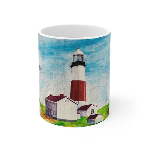 "Mug 11oz - ""Montauk Lighthouse"" by Don Wilson"