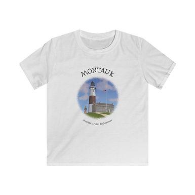 Montauk Point Lighthouse Kids Softstyle Tee