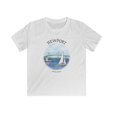 Newport RI Kids Softstyle Tee