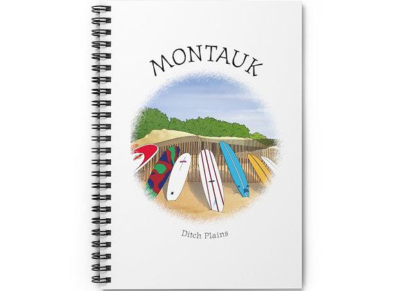 Montauk Ditch Plains Spiral Notebook