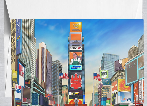 Times Square Notecard