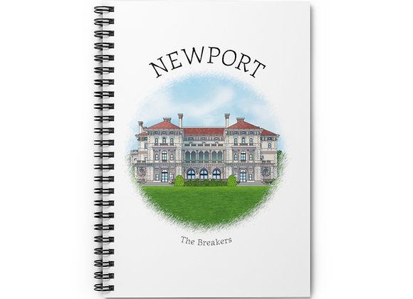 The Breakers Spiral Notebook
