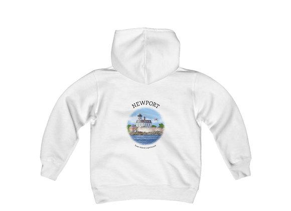 Rose Island Lighthouse Youth Sweatshirt