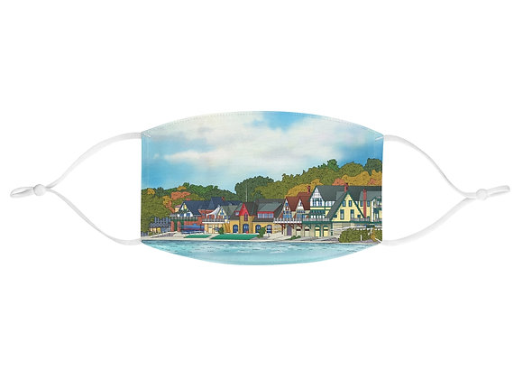 Boathouse Row - Fabric Face Mask