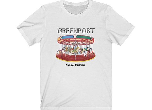 Greenport Carousel - Unisex Short Sleeve Tee