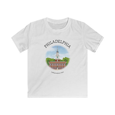 Independence Hall Kids Softstyle Tee