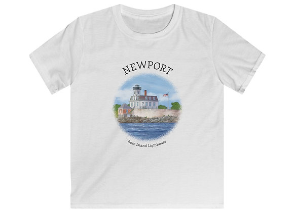 Rose Island Lighthouse Softstyle Tee