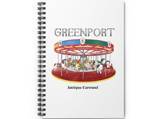Greenport Carousel Spiral Notebook