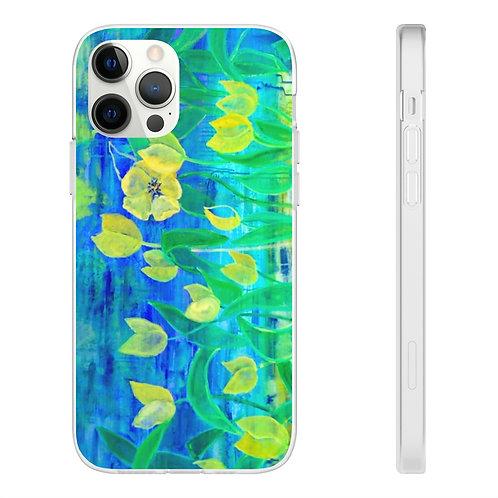 """Phone Case - """"Yellow Flowers"""" by Helen Weinstein"""