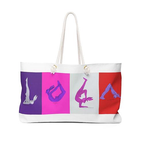 Weekender Bag - Yoga Bunnies - Warm Tones