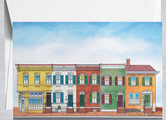 Georgetown Row Houses Notecard