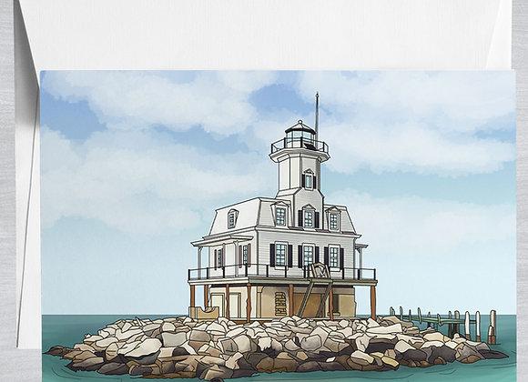 Bug Lighthouse Notecard