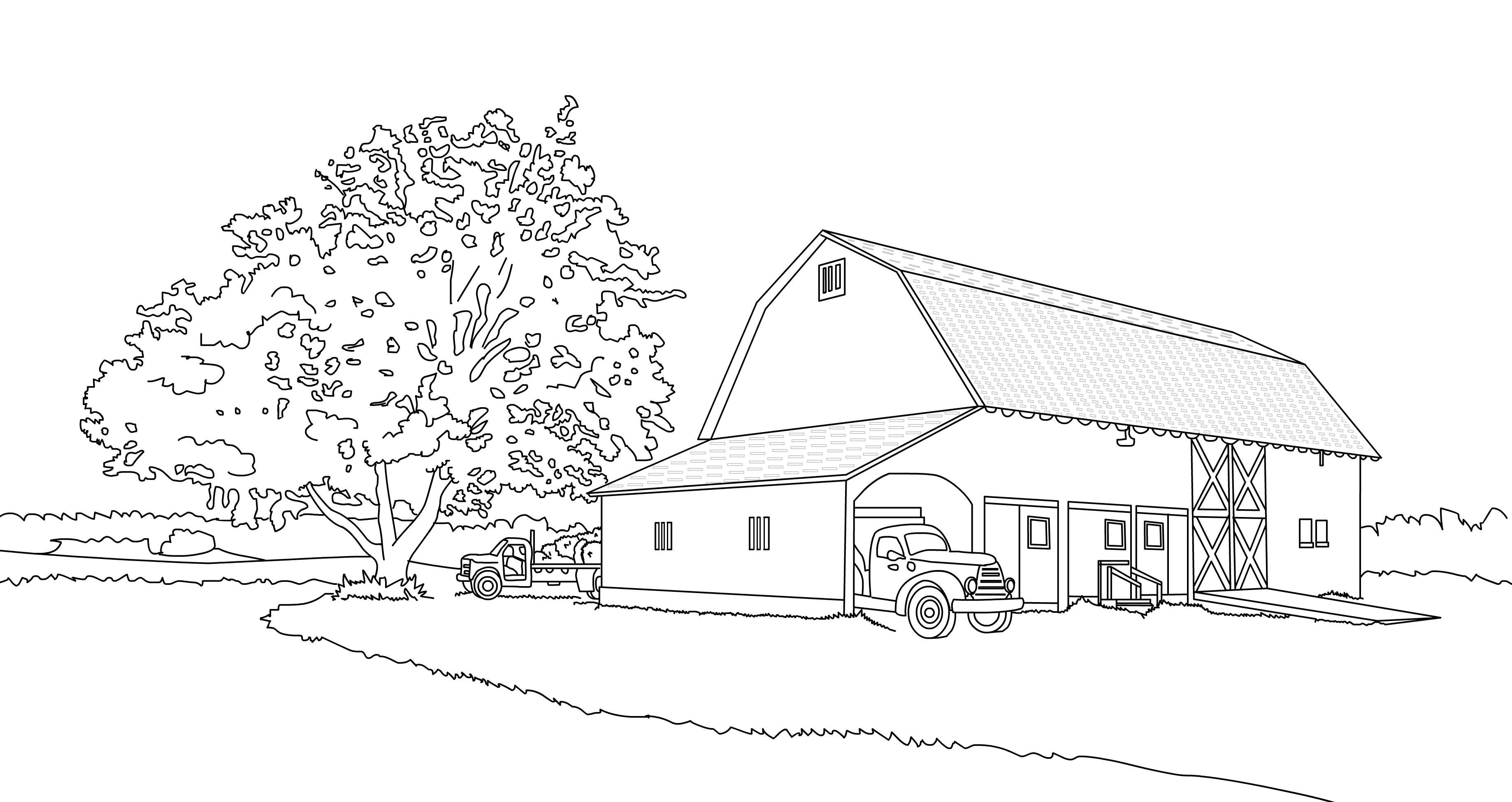 Drawing - Hallockville Farm