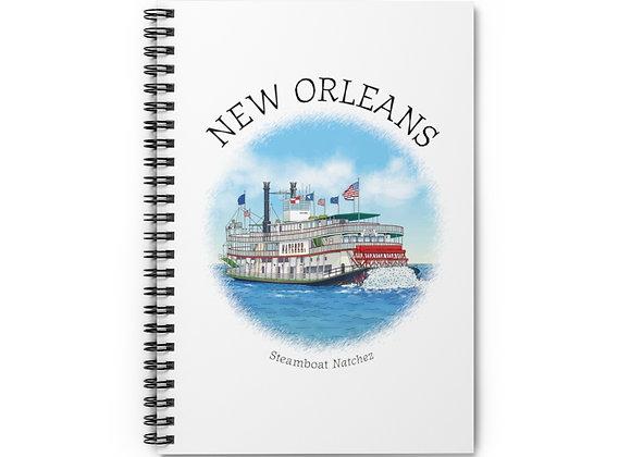 Steamboat Natchez Spiral Notebook