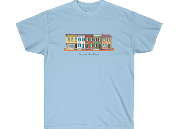 Georgetown Row Houses - DC Unisex Cotton Tee