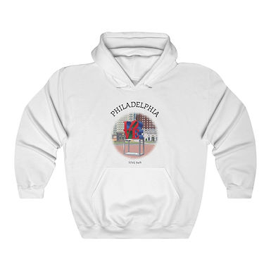 LOVE Park Unisex Hooded Sweatshirt
