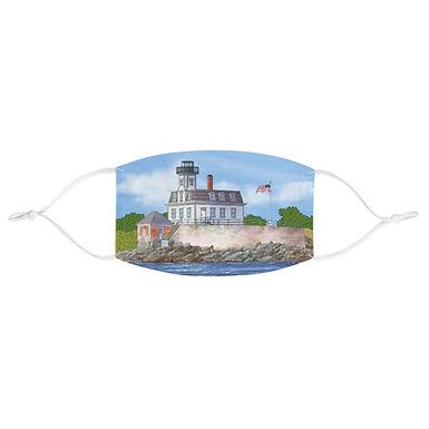Rose Island Lighthouse - Fabric Face Mask