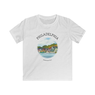 Boathouse Row Kids Softstyle Tee