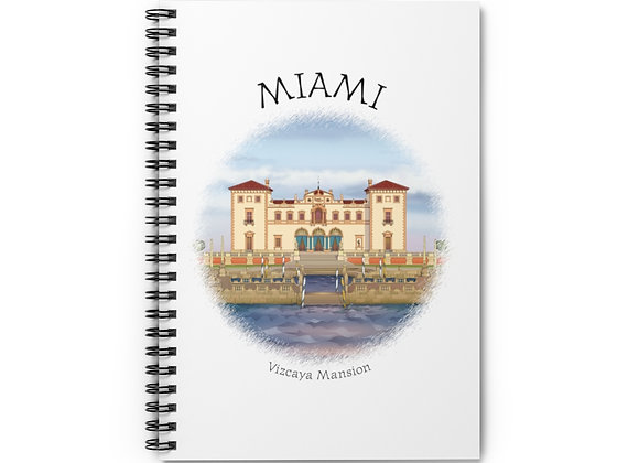 Vizcaya Mansion Spiral Notebook