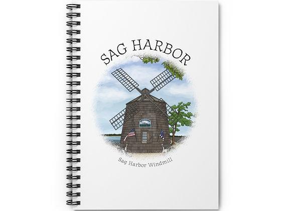 Sag Harbor Windmill Spiral Notebook