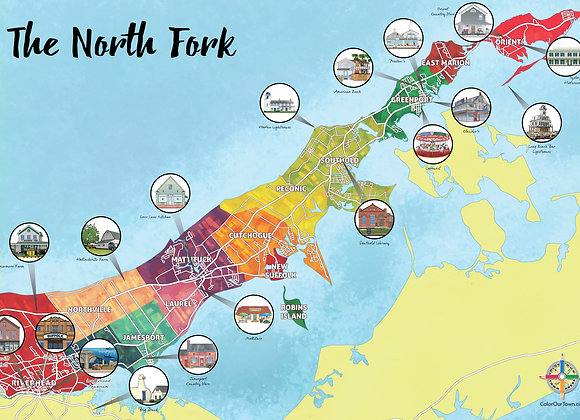 North Fork Map