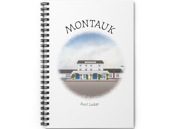 Surf Lodge Spiral Notebook