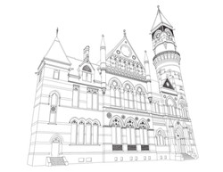 Jefferson Library coloring page