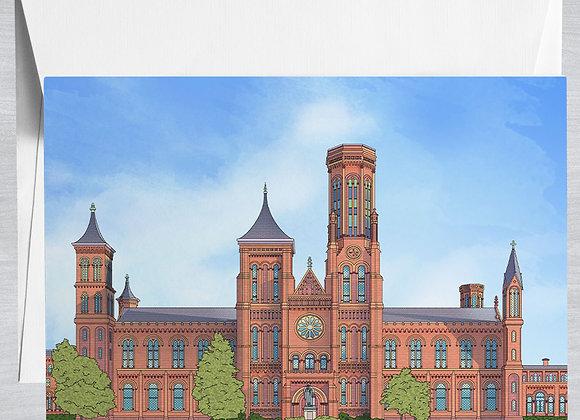 Smithsonian Castle Notecard