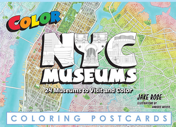 NYC Museums Coloring Postcard